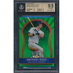 2011 Finest Green Refractors #97 Anthony Rizzo (BGS 9.5)