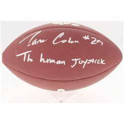 "Tarik Cohen Signed NFL Football Inscribed ""The Human Joystick"" (Schwartz COA)"