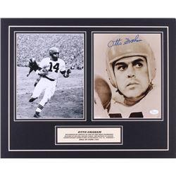 Otto Graham Signed Browns 16x20 Custom Matted Photo Display (JSA COA)