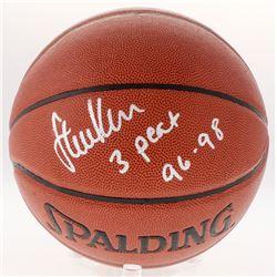 "Steve Kerr Signed Basketball Inscribed ""3 Peat 96-98"" (Schwartz COA)"