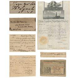 Near Complete Set of Declaration of Independence Signers (PSA Hologram  JSA Hologram)