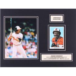 Eddie Murray Signed Orioles 14x18 Custom Matted Postcard Display (JSA COA)