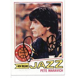 Pete Maravich Signed 1977-78 Topps #20 (JSA LOA)