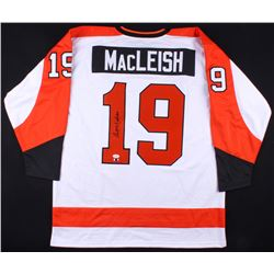 Rick MacLeish Signed Flyers Jersey (SI COA  JSA Hologram)