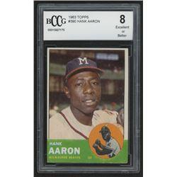 1963 Topps #390 Hank Aaron (BCCG 8)
