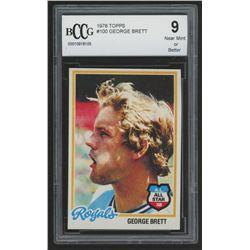 1978 Topps #100 George Brett (BCCG 9)