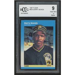 1987 Fleer #604 Barry Bonds RC (BCCG 9)