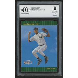 1993 Select #360 Derek Jeter RC (BCCG 9)