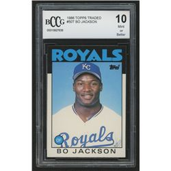 1986 Topps Traded #50T Bo Jackson RC (BCCG 10)