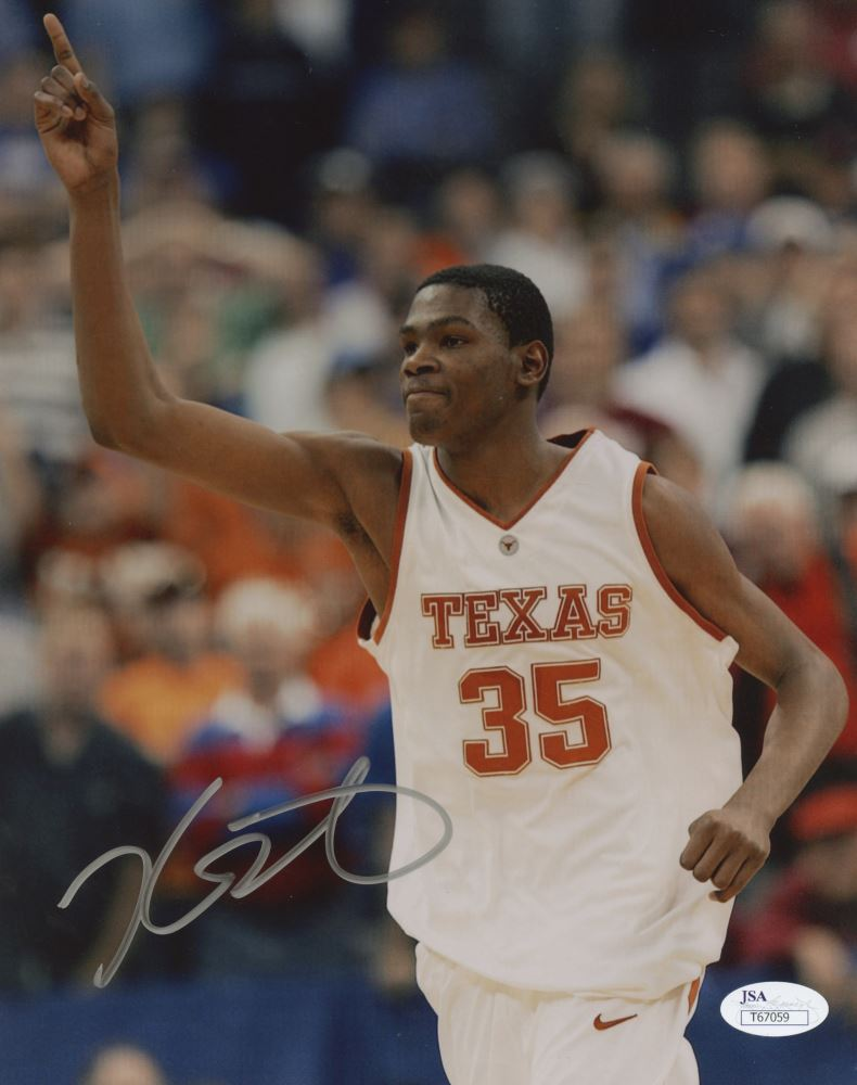 1483a2837 Image 1   Kevin Durant Signed Texas Longhorns 8x10 Photo (JSA COA)