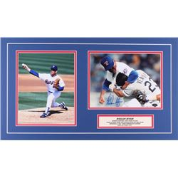 Nolan Ryan Signed Rangers 14x24 Custom Matte Photo Display (JSA COA  Ryan Hologram)