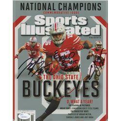 Cardale Jones, Ezekiel Elliott  Joey Bosa Signed Ohio State Buckeyes 8x10 Photo (JSA COA)