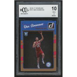 2016-17 Donruss #151 Ben Simmons RC (BCCG 10)