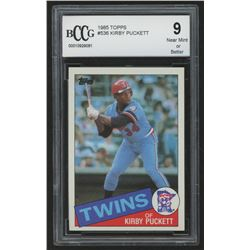 1985 Topps #536 Kirby Puckett RC (BCCG 9)