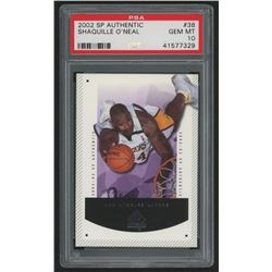 2002-03 SP Authentic #38 Shaquille O'Neal (PSA 10)