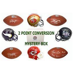 Schwartz Sports 2-Pt Conversion Full Size Football/Mini Helmet Signed Mystery Box - Series 2 (Limite