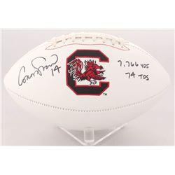 "Connor Shaw Signed South Carolina Gamecocks Logo Football Inscribed ""7,766 YDS""  ""74 TDs"" (Radtke CO"
