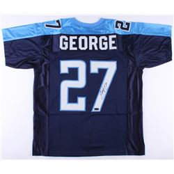 Eddie George Signed Titans Jersey (Radtke COA)