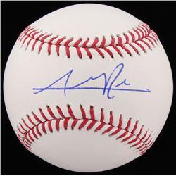 Addison Russell Signed OML Baseball (Schwartz COA)