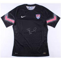"""Tim Howard Signed Team USA Goalkeeper Jersey Inscribed """"USA"""" (JSA COA  Howard Hologram)"""