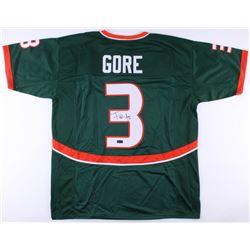 Frank Gore Signed Miami Hurricanes Jersey (Radtke COA)