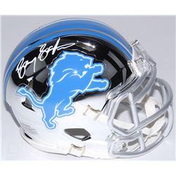 Barry Sanders Signed Lions Chrome Mini Speed Helmet (Schwartz COA)
