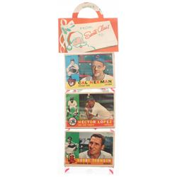 1960 Topps Baseball Unopened Christmas Rack Pack with (12) Cards