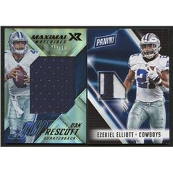 Lot of (2) Cowboys Football Cards with 2017 Panini XR Maximal Materials #1 Dak Prescott  2018 Panini
