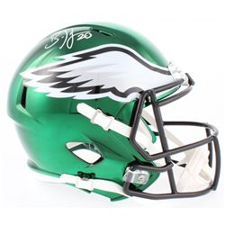 Brian Dawkins Signed Eagles Full-Size Chrome Speed Helmet (JSA COA)