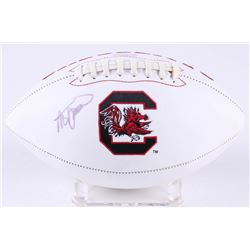 Steve Spurrier Signed South Carolina Gamecocks Logo Football (Radtke COA)