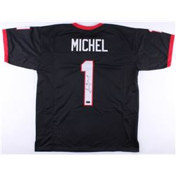 Sony Michel Signed Georgia Bulldogs Jersey (Radtke COA)