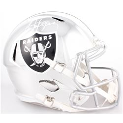 Bo Jackson Signed Raiders Full-Size Chrome Speed Helmet (JSA COA)