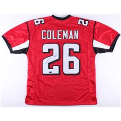 Tevin Coleman Signed Falcons Jersey (Radtke COA)