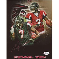 Michael Vick Signed Falcons 8x10 Photo (JSA COA)