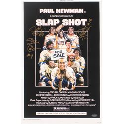 "Dave Hanson, Steve Carlson  Jeff Carlson Signed ""Slap Shot"" 11x17 Photo (Schwartz COA)"