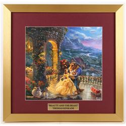 "Thomas Kinkade Walt Disney's ""Beauty and the Beast"" 17.5x18 Custom Framed Print Display"