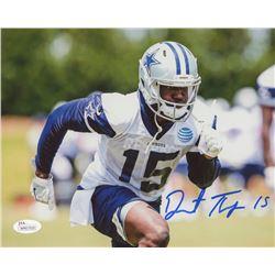 Deonte Thompson Signed Cowboys 8x10 Photo (JSA COA)