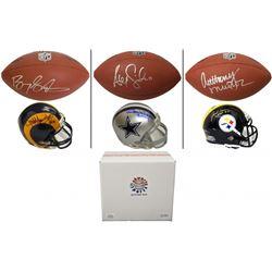 Schwartz Sports 2-Pt Conversion Full Size Football/Mini Helmet Signed Mystery Box - Series 1 (Limite