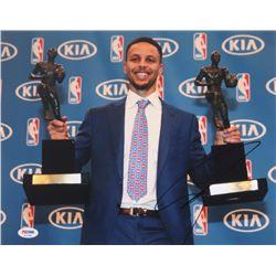 "Stephen Curry Signed ""2x MVP"" 11x14 Photo (PSA COA)"