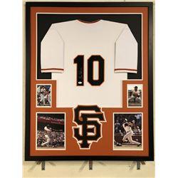Evan Longoria Signed Giants 34x42 Custom Framed Jersey (JSA Hologram)