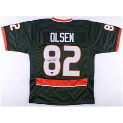 Greg Olsen Signed Miami Hurricanes Jersey (Radtke COA)