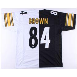 Antonio Brown Signed Steelers Home/Away Split Jersey (Beckett COA)
