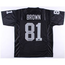"Tim Brown Signed Raiders Jersey Inscribed ""HOF 2015"" (Radtke COA)"