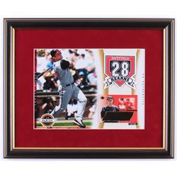Austin Kearns Signed LE Reds 14x17 Custom Framed Autograph Card Display (UDA COA)