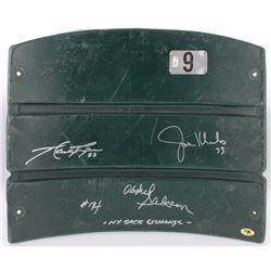 "Joe Klecko, Marty Lyons  Abdul Salaam Signed Jets Shea Stadium Game-Used Seat Back Inscribed ""-NY Sa"