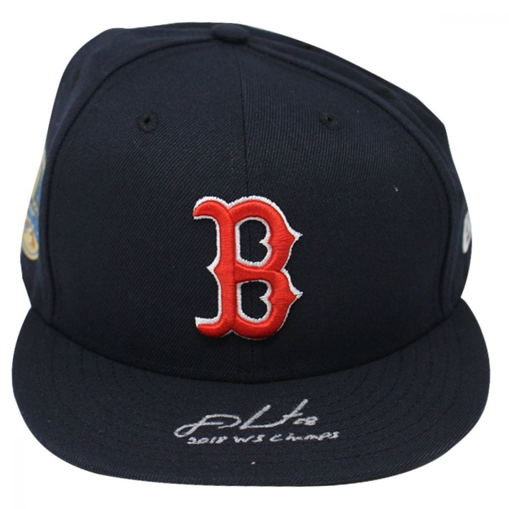 2dda309f Image 1 : J.D. Martinez Signed Red Sox New Era Fitted Baseball Hat With World  Series