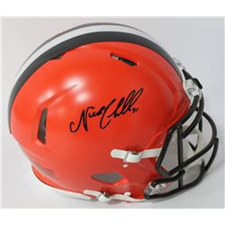 Nick Chubb Signed Browns Full-Size Authentic On-Field Speed Helmet (JSA COA)