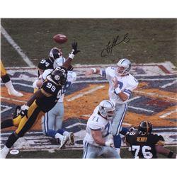 Troy Aikman Signed Cowboys 16x20 Photo (PSA Hologram)