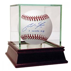 "Christian Yelich Signed Baseball Inscribed ""2 Cycles 2018"" (Steiner Hologram)"
