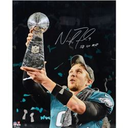 "Nick Foles Signed Eagles 16x20 Photo Inscribed ""SB LII MVP"" (Fanatics Hologram)"